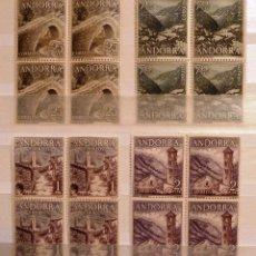 Sellos: SELLOS ANDORRA 1963. SERIE TURISMO. NUEVOS. BLOQUE DE 4.. Lote 47312157