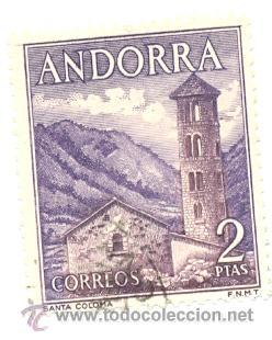 2-ANDE56. SELLO USADO ANDORRA. EDIFIL Nº 56. SANTA COLOMA (Sellos - Extranjero - Europa - Andorra)