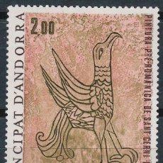 Sellos: ANDORRA FRANCESA EDIFIL 299, AGUILA, PINTURA MURAL DE LA IGLESIA DE SAN CERNI DE NAGOL, NUEVO ***. Lote 48883538
