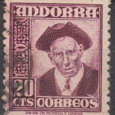Sellos: ANDORRA Nº 48, CONSEJERO GENERAL, USADO. Lote 48888281