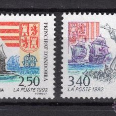 Sellos: ANDORRA 1992 SERIE EUROPA CEPT NUEVO LUJO MNH *** SC. Lote 49620785