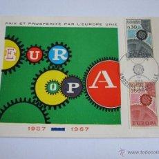 Sellos: ANDORRA 1967, YVERT Nº 179/80, TEMA EUROPA.PRIMER DIA DE CIRCULACION. Lote 50261923