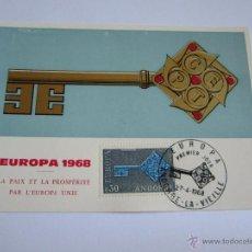 Sellos: ANDORRA 1968, Nº 208/09, TEMA EUROPA, PRIMER DIA DE CIRCULACION. Lote 50261987