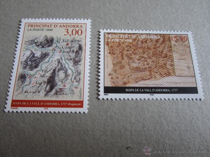 ANDORRA FRANCESA, 1998, EDIFIL Nº 529/30**,MAPAS DEL PRINCIPADO (Sellos - Extranjero - Europa - Andorra)