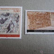 Sellos: ANDORRA FRANCESA, 1998, EDIFIL Nº 529/30**,MAPAS DEL PRINCIPADO. Lote 50822669