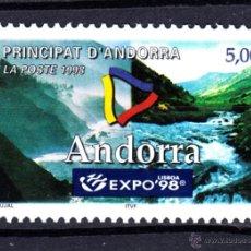 Sellos: ANDORRA 505** - AÑO 1998 - EXPOSICIÓN UNIVERSAL DE LISBOA EXPO 98. Lote 51400162