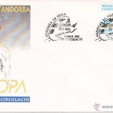 Sellos: ANDORRA SOBRE PRIMER DIA 1993 EUROPA SPD. Lote 51450112