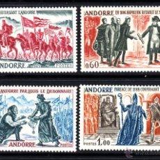 Sellos: ANDORRA 167/70* - AÑO 1963 - HECHOS HISTÓRICOS DE ANDORRA - CARLOMAGNO - NAPOLEÓN. Lote 52567902
