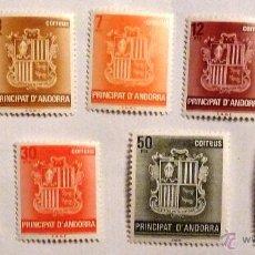 Sellos: SELLOS ANDORRA ESPAÑOLA 1982. NUEVOS. SERIE BASICA. ESCUDOS.. Lote 52945467