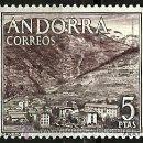 Sellos: ANDORRA-ESP 1963- ED 0066 (USADO). Lote 160610824