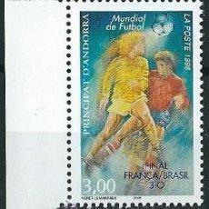 Sellos: ANDORRA FRANCESA 1998 COPA DEL MUNDO FRANCIA 98 YVERT 503. Lote 53216257