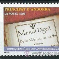 Sellos: ANDORRA FRANCESA 1998 25 ANIVERSARIO MANUAL DIGEST YVERT 511. Lote 53216410