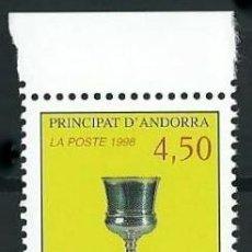 Sellos: ANDORRA FRANCESA 1998 YVERT 506 CALIZ DE LA CASA DE LA VALL . Lote 53216490