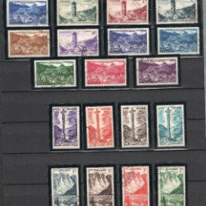 Sellos: ANDORRA FRANCESA=EDIFIL Nº 142/60=PAISJES Y MONUMENTOS=MATASELLADOS-ESPECTACULAR =CATALOGO:140 EUROS. Lote 53860854