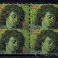 Sellos: ANDORRA ESPAÑOLA 2015 - NAVIDAD - BLOQUE DE 4. Lote 53949990