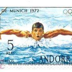 Sellos: 2ANDE-70N. SELLO NUEVO ANDORRA ESPAÑOLA. YVERT Nº 70. OLIPIADA DE MUNICH 1972. Lote 54041781
