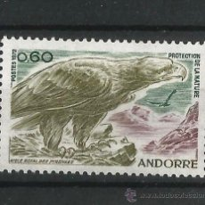 Sellos: ANDORRA 1972 ANDORRA FRANCESA PROTECCION DE LA NATURALEZA. Lote 54416379