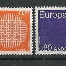 Sellos: ANDORRA FRANCESA 1970 EUROPA NUEVOS SIN CHARNELA. SERIE COMPLETA. Lote 57744664