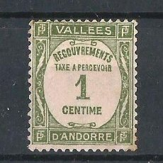 Sellos: ANDORRA FRANCESA 1935 TASA. NUEVO. Lote 57909820