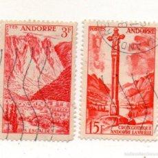 Sellos: ANDORRA FRANCESA 1955- N.140/146-PAISAJES. Lote 58063911
