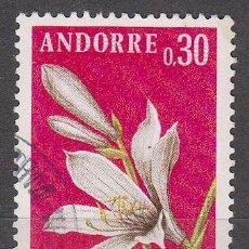 Sellos: ANDORRA FRANCESA EDIFIL Nº 250, AZUCENA, FLORES DE LOS VALLES DE ANDORRA, USADO. Lote 58671416