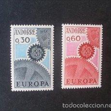 Sellos: ANDORRA FRANCESA,1967,EUROPA,EDIFIL 199-200*,COMPLETA,NUEVOS,GOMA, POCA SEÑAL FIJASELLO,( LOTE RY). Lote 61128063