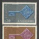 Sellos: ANDORRA FRANCESA YVERT NUM. 188/189 ** SERIE COMPLETA SIN FIJASELLOS. Lote 68593529