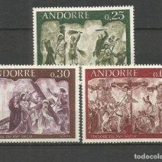 Sellos: ANDORRA FRANCESA YVERT NUM. 191/193 ** SERIE COMPLETA SIN FIJASELLOS. Lote 263648495