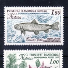 Sellos: ANDORRA FRANCESA AÑO 1983 YVERT Nº 311/12 ** MNH - PROTECCION DE LA NATURALEZA. Lote 71354283