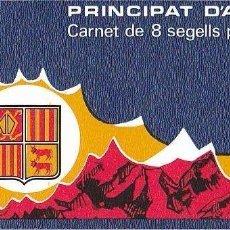 ANDORRA FRANCESA AÑO 1987 YVERT CARNET Nº 1 C1 CT1 ** MNH - ESCUDO PRIMITIVO DE ANDORRA - HERÁLDICA