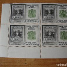 Sellos: ANDORRA ESPAÑOLA EDIFIL 162 BLOQUE DE 4 PERFECTOS. Lote 74449203