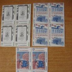 Sellos: ANDORRA ESPAÑOLA EDIFIL 163/165 BLOQUE DE 4 PERFECTOS. Lote 74451247