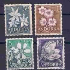 Sellos: FLORES DE ANDORRA. SELLOS DEL AÑO 1966. Lote 79719569