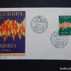 Sellos: SOBRE PRIMER DÍA DE CIRCULACIÓN. ANDORRA LA VIEJA - EUROPA C.E.P.T. - 2 MAYO 1972. Lote 81991992