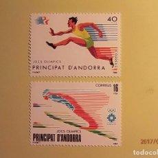 Sellos: 1984 - ANDORRA - JUEGOS OLIMPICOS - EDIFIL 176-177 - SALTO DE ESQUÍ Y CORREDOR. Lote 82021500