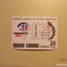 Sellos: 1984 - ANDORRA - ESPAÑA 84 - EDIFIL 178 - NUEVO. Lote 82022012