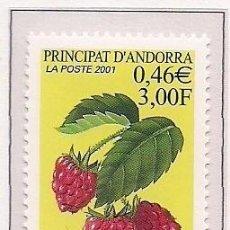 Sellos: ANDORRA FRANCESA 2001 - FLORA - FRUTOS - FRAMBUESA - YVERT Nº 547**. Lote 269735598