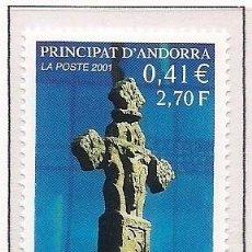 Timbres: ANDORRA FRANCESA 2001 - LA CREU GROSSA - YVERT Nº 554**. Lote 264230652