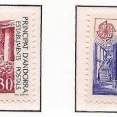 Sellos: ANDORRA FRANCESA 1990 - EUROPA CEPT - EDIFICIOS POSTALES - YVERT Nº 388-389**. Lote 87367812