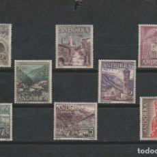 Sellos: LOTE A SELLOS ANDORRA SERIE TURISMO 1963-64 COMPLETA NUEVA SIN FIJASELLOS PERFECTA. Lote 143707677
