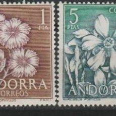 Sellos: LOTE A SELLOS ANDORRA FLORES AÑO 1966 FLORA NUEVA SERIE COMPLETA SIN FIJASELLOS. Lote 143707653