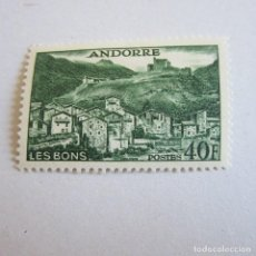 Sellos: ANDORRA 1955-58, ANFIL Nº 151*,PAISAJES FIJASELLOS. Lote 90199144