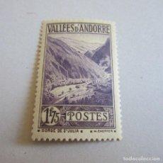 Sellos: ANDORRA 1932-33 YVERT Nº 40 A, FIJASELLOS. Lote 90200628
