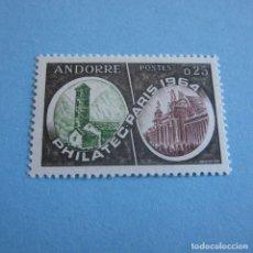 Sellos: ANDORRA 1964, Nº 171**, EXPOSICION FILATELICA PARIS. PHILATEC.. Lote 102509079