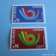 Sellos: ANDORRA 1973, Nº 247/248**, TEMATICA EUROPA.. Lote 103189663