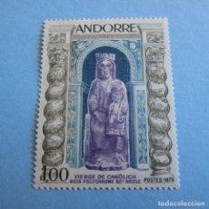 Sellos: ANDORRA 1973, Nº 249**, VIRGEN DE CANOLICH.. Lote 103190803