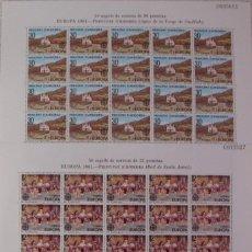 Sellos: ANDORRA - ***EUROPA 1981*** - EDIFIL 140-141 - 100 SERIES (1 PLIEGO X 2 VALORES = 2). Lote 111186111