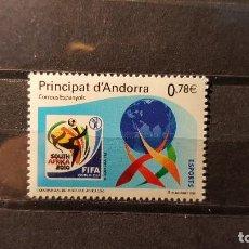 Sellos: SELLO NUEVO ANDORRA ESPAÑOLA 2010. C. MUNDIAL FUTBOL. SUDAFRICA. 1 DE JUNIO DE 2010. Lote 133330962