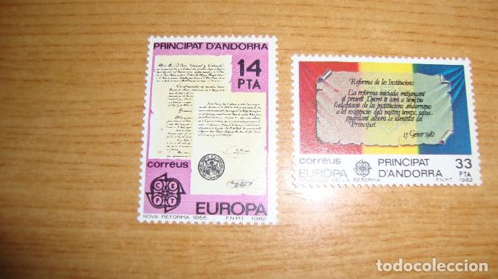 ANDORRA ESPAÑOLA EDIFIL 1577/158 NUEVOS PERFECTOS TEMA EUROPA (Sellos - Extranjero - Europa - Andorra)