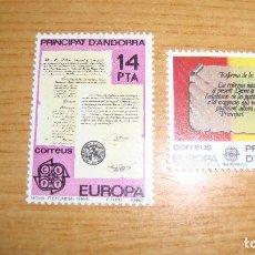 Sellos: ANDORRA ESPAÑOLA EDIFIL 1577/158 NUEVOS PERFECTOS TEMA EUROPA. Lote 114283087